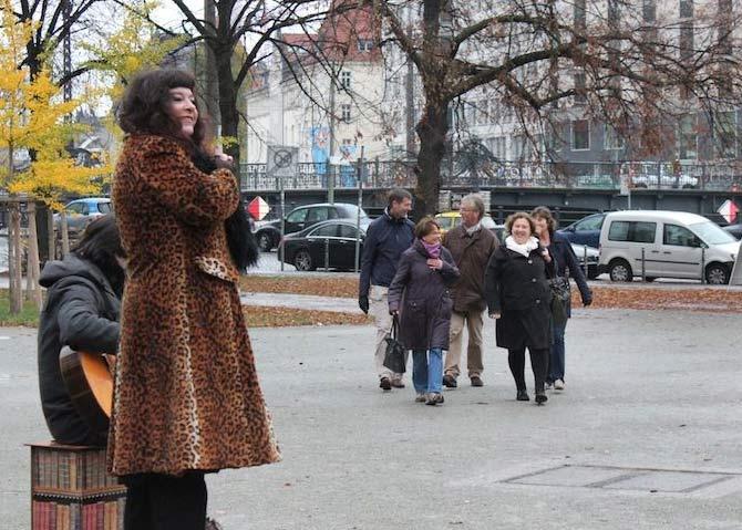 "frz. Zeitungsbericht über den Kulturspaziergang ""Rosa Luxemburg"""